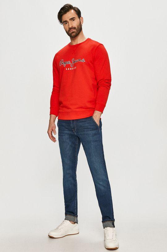 Pepe Jeans - Mikina George červená