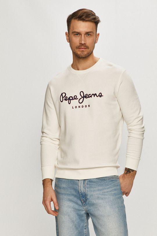 bílá Pepe Jeans - Bavlněná mikina George Pánský