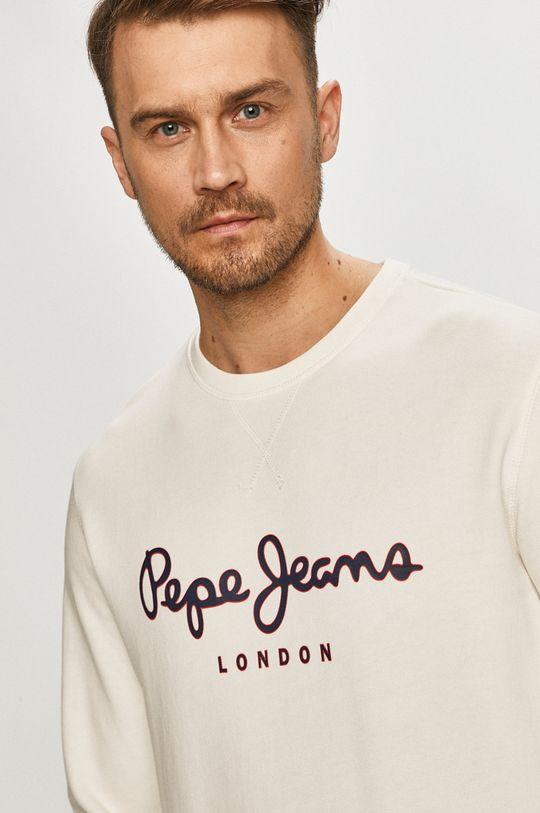 bílá Pepe Jeans - Bavlněná mikina George