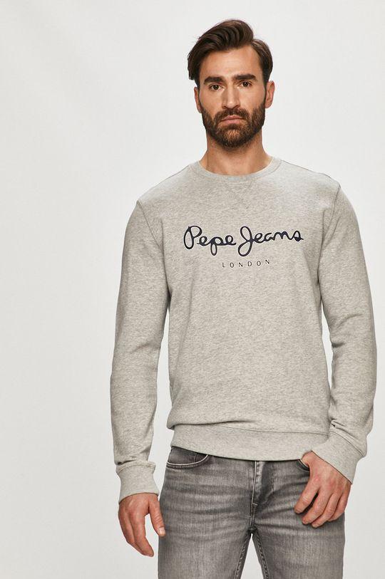 šedá Pepe Jeans - Bavlněná mikina George 2 Pánský