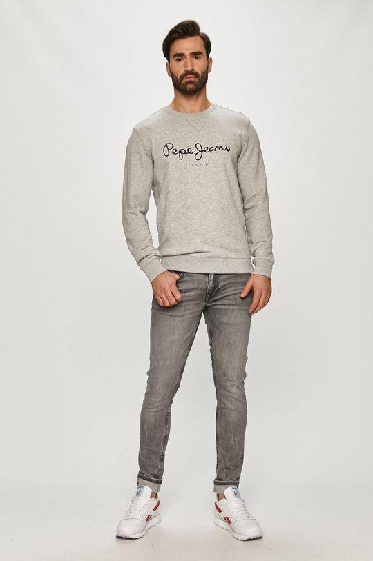 Pepe Jeans - Bavlněná mikina George 2 šedá
