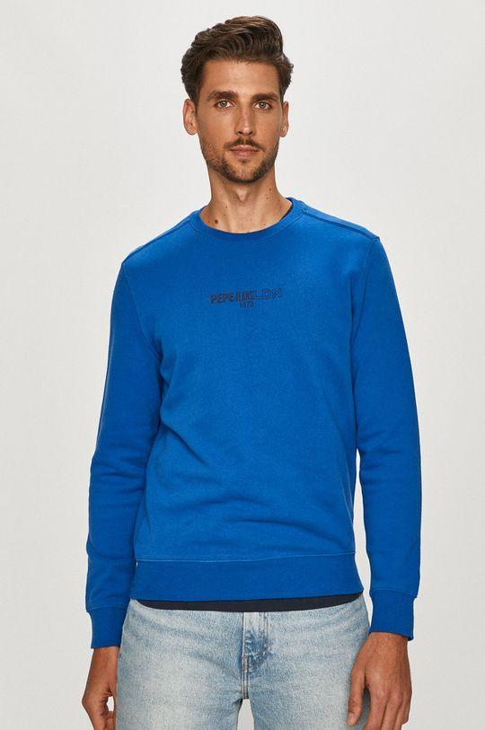 niebieski Pepe Jeans - Bluza bawełniana Elie Męski