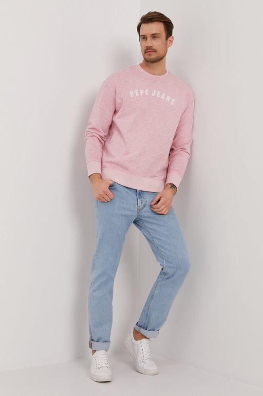 Pepe Jeans - Bluza bawełniana Malik różowy
