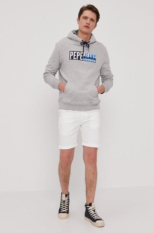 szary Pepe Jeans - Bluza Harvey Męski