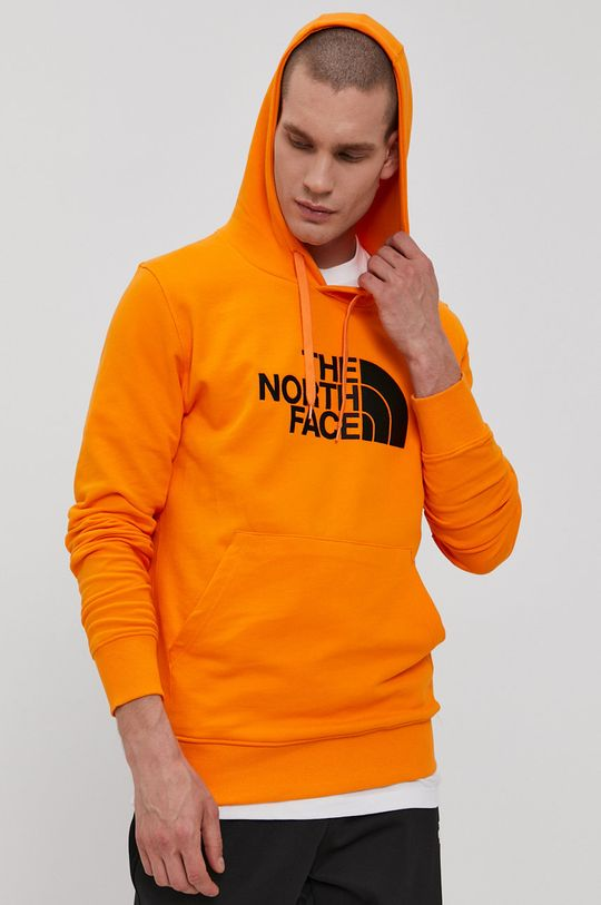 oranžová The North Face - Bavlnená mikina Pánsky