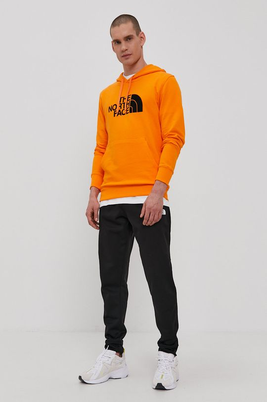 The North Face - Bavlnená mikina oranžová