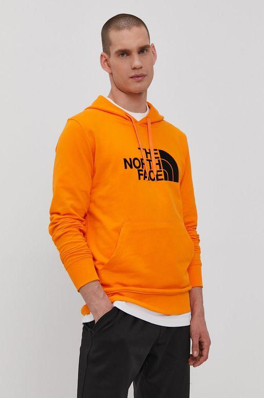 oranžová The North Face - Bavlnená mikina