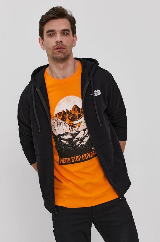 černá The North Face - Bavlněná mikina Pánský