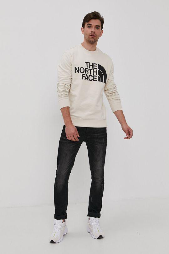 The North Face - Bluza bawełniana cielisty