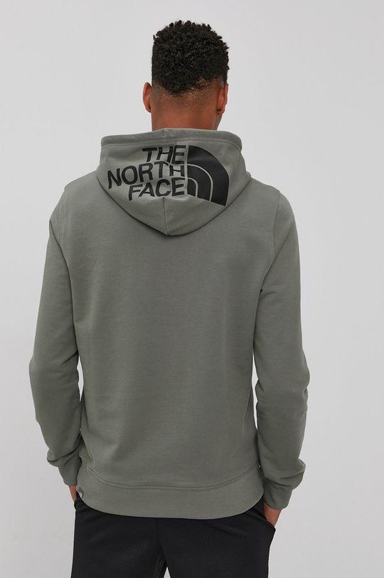 brudny zielony The North Face - Bluza bawełniana