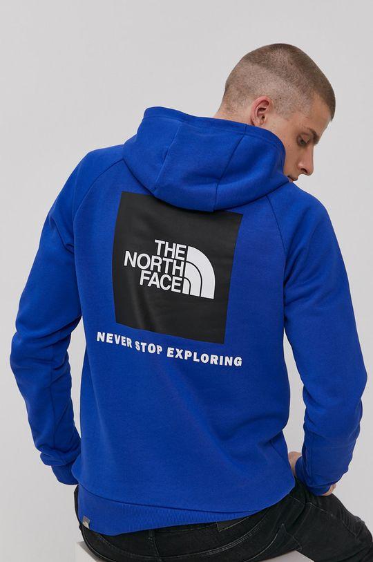 modrá The North Face - Bavlněná mikina Pánský