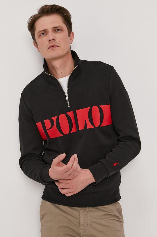 czarny Polo Ralph Lauren - Bluza Męski