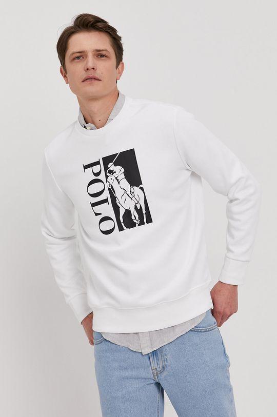 biały Polo Ralph Lauren - Bluza Męski