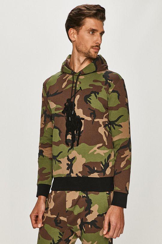 brązowa zieleń Polo Ralph Lauren - Bluza Męski