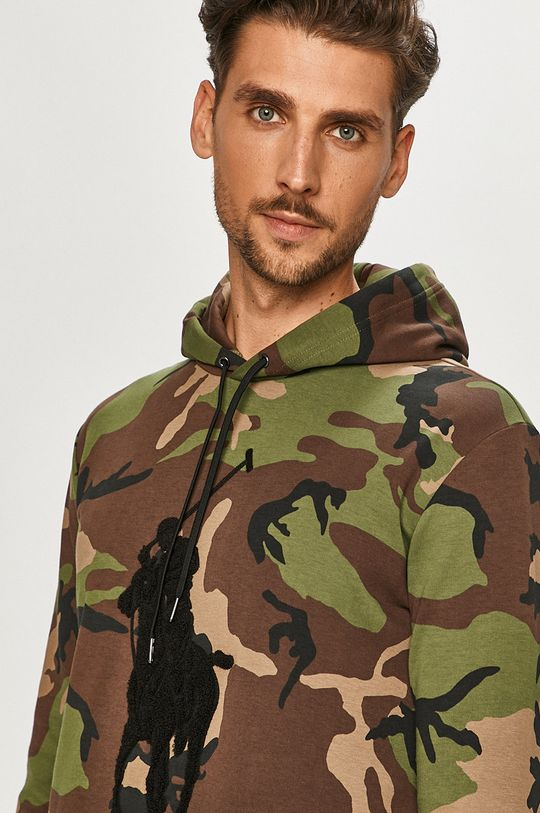 brązowa zieleń Polo Ralph Lauren - Bluza