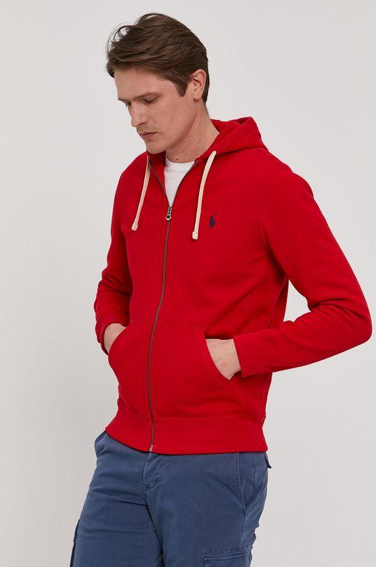 czerwony Polo Ralph Lauren - Bluza Męski
