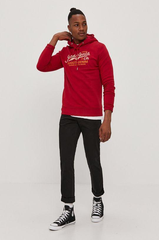 czerwony Premium by Jack&Jones - Bluza Męski