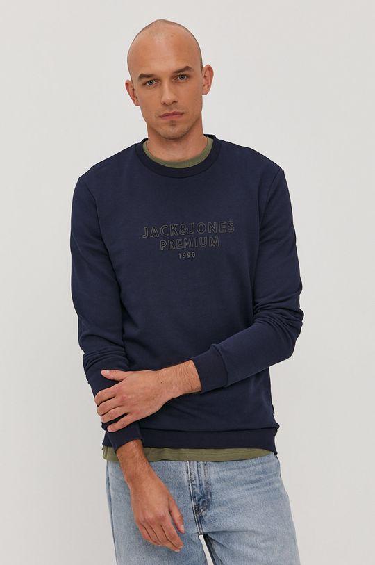 granatowy Premium by Jack&Jones - Bluza bawełniana Męski