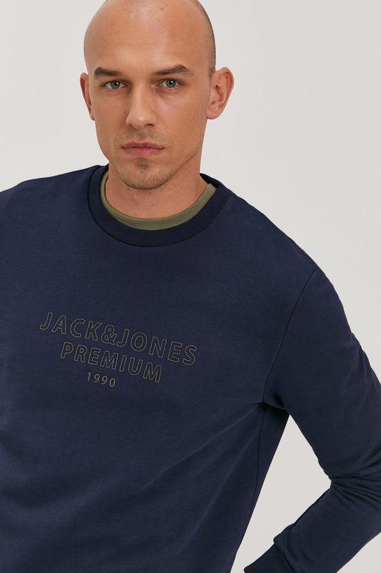 granatowy Premium by Jack&Jones - Bluza bawełniana