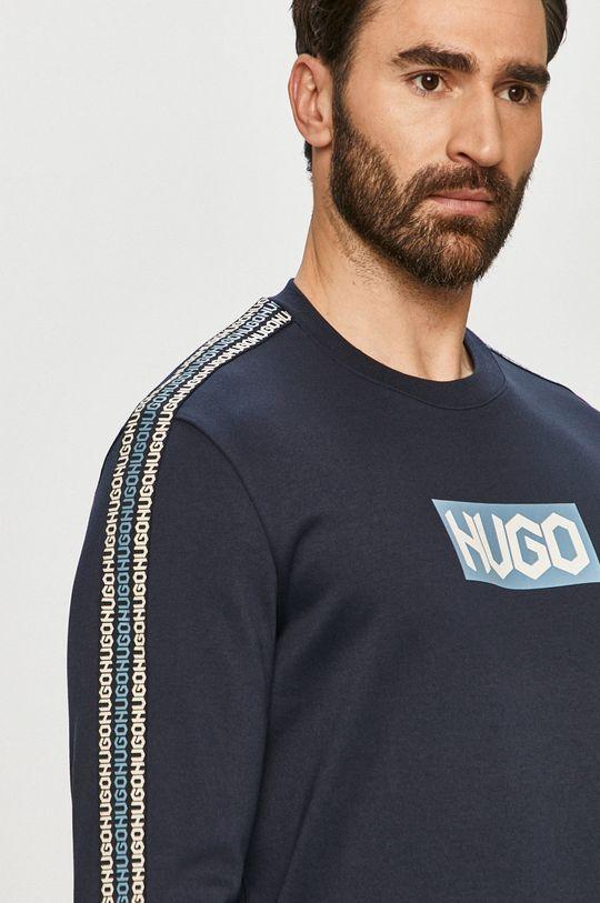 granatowy Hugo - Bluza bawełniana