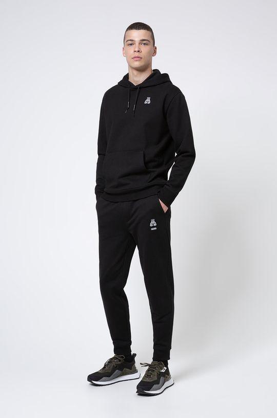 Hugo - Bluza bawełniana czarny