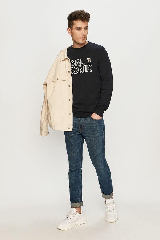 Karl Lagerfeld - Bluza granatowy
