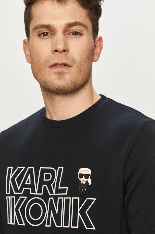 granatowy Karl Lagerfeld - Bluza