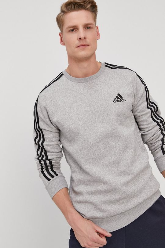 szary adidas - Bluza Męski