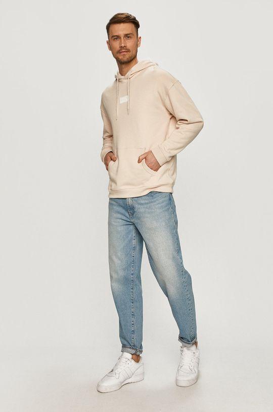 adidas Originals - Bluza bawełniana cielisty