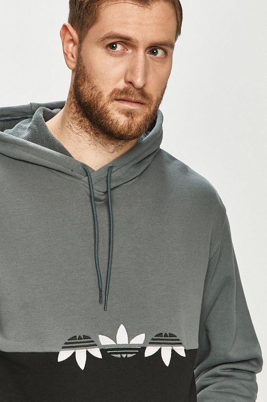 sivá adidas Originals - Bavlnená mikina