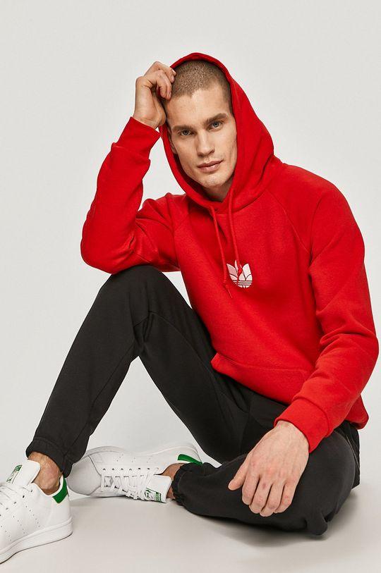 czerwony adidas Originals - Bluza Męski
