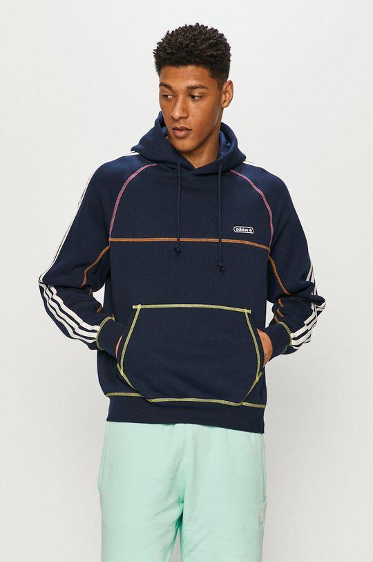 granatowy adidas Originals - Bluza Męski