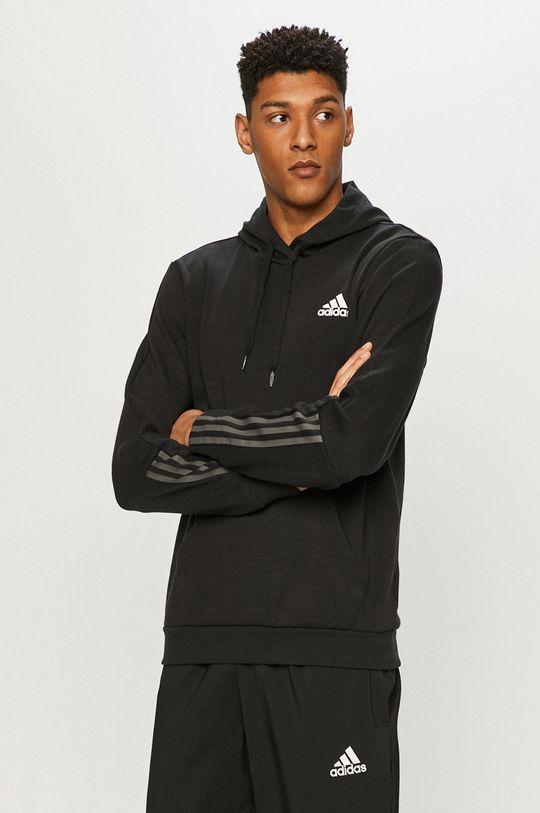 czarny adidas - Bluza Męski