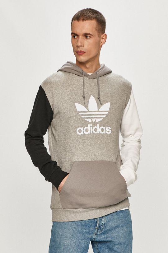 světle šedá adidas Originals - Bavlněná mikina Pánský