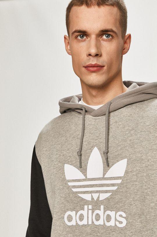 světle šedá adidas Originals - Bavlněná mikina