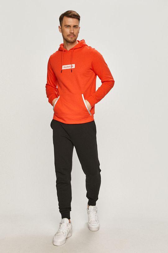 Calvin Klein Performance - Bluza pomarańczowy