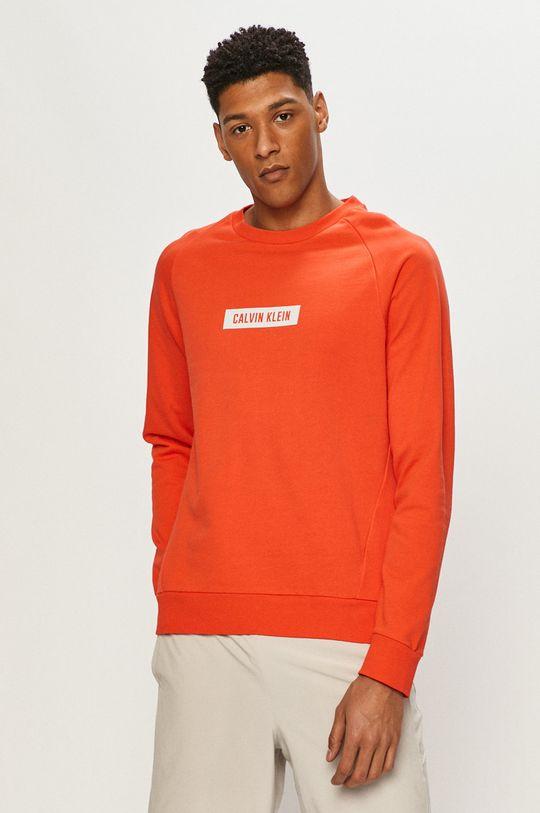 pomarańczowy Calvin Klein Performance - Bluza bawełniana Męski