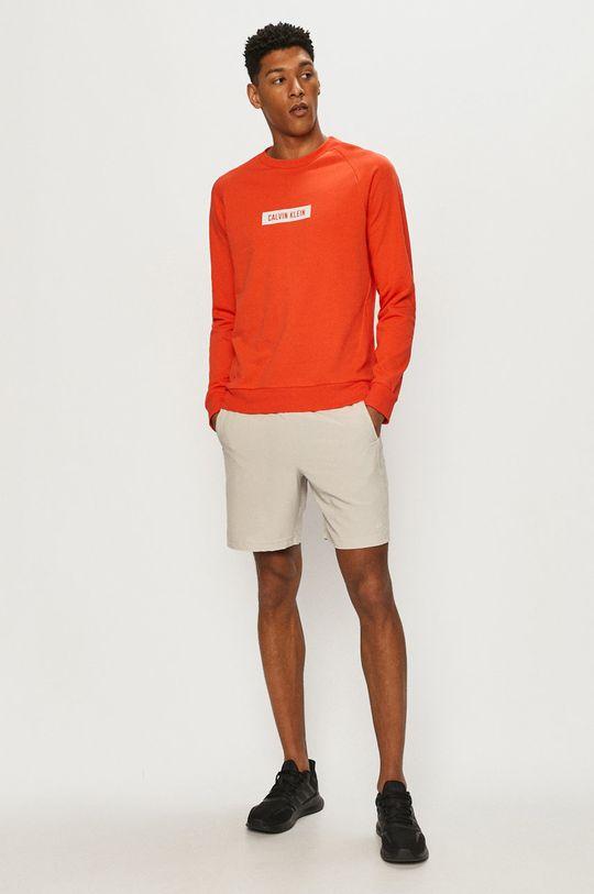 Calvin Klein Performance - Bluza bawełniana pomarańczowy