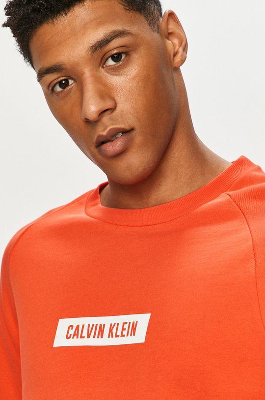 pomarańczowy Calvin Klein Performance - Bluza bawełniana