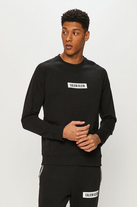 czarny Calvin Klein Performance - Bluza bawełniana Męski