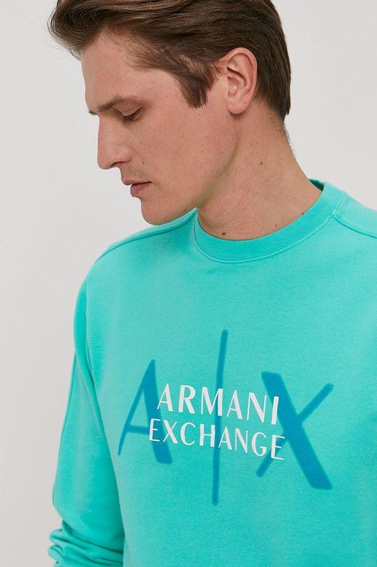 jasny turkusowy Armani Exchange - Bluza bawełniana