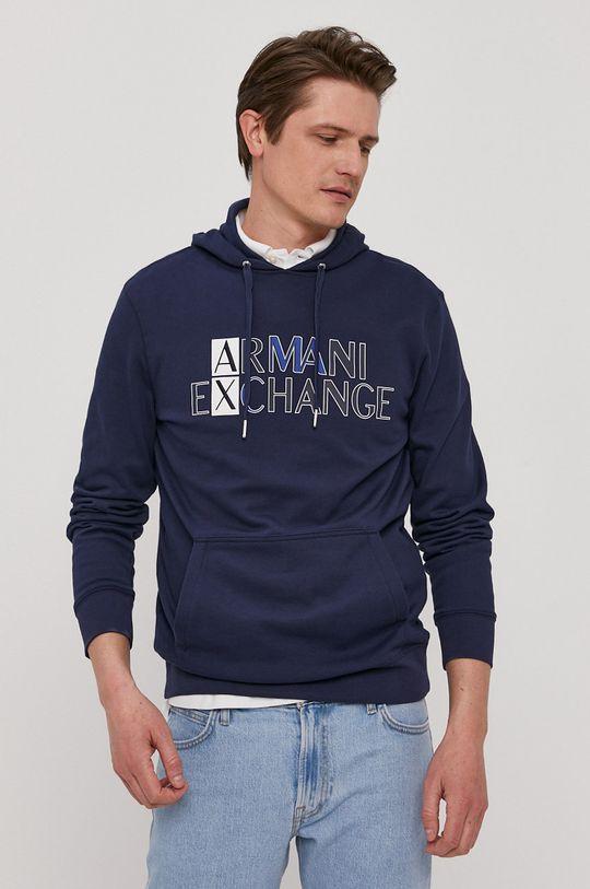 granatowy Armani Exchange - Bluza bawełniana Męski