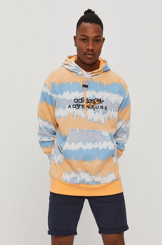 multicolor adidas Originals - Bluza bawełniana Męski