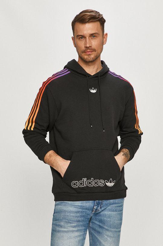 čierna adidas Originals - Bavlnená mikina Pánsky