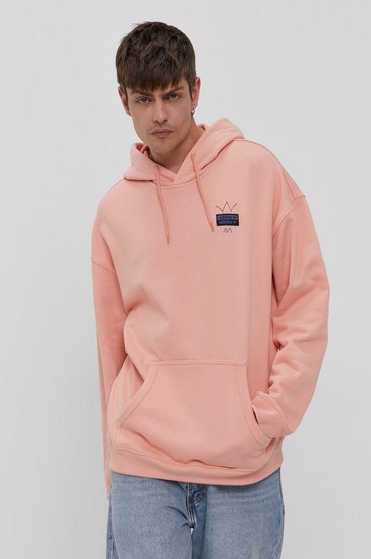 adidas Originals - Bluza bawełniana koralowy