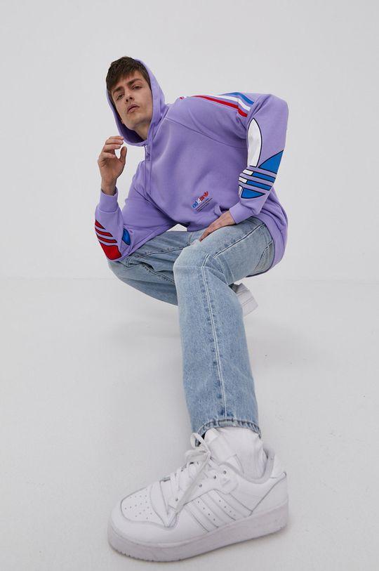winogronowy adidas Originals - Bluza bawełniana Męski