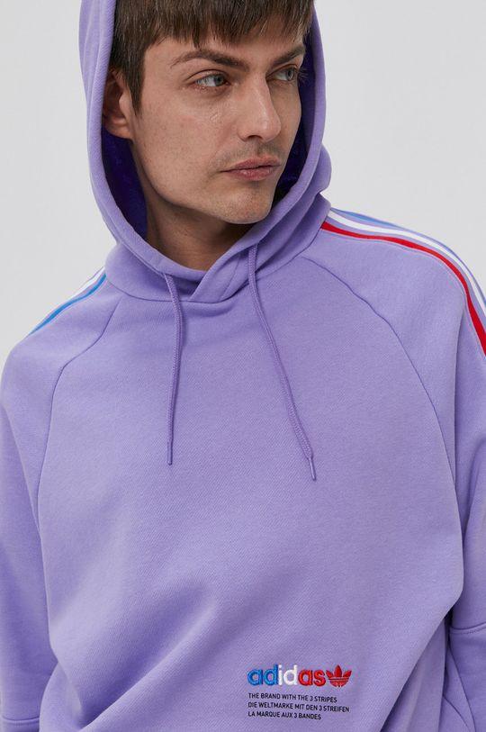 winogronowy adidas Originals - Bluza bawełniana