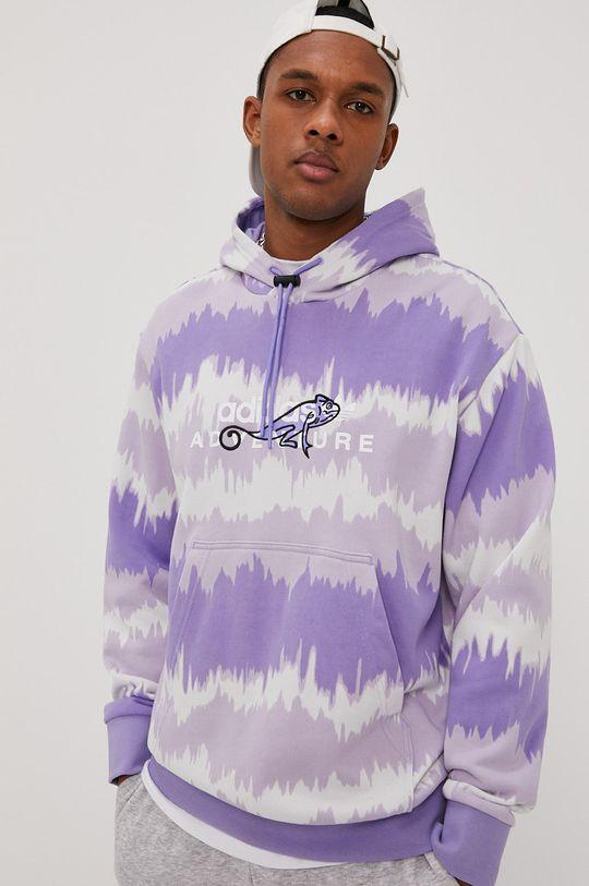 adidas Originals - Bavlnená mikina fialová