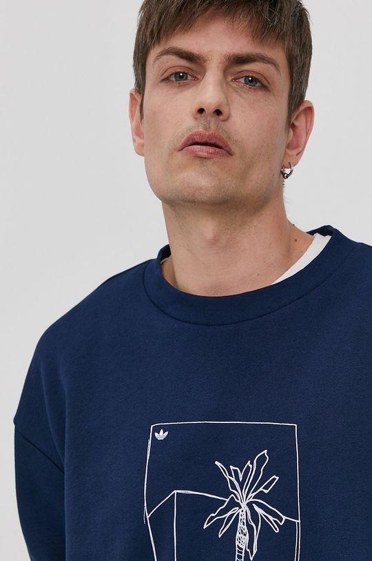 granatowy adidas Originals - Bluza bawełniana