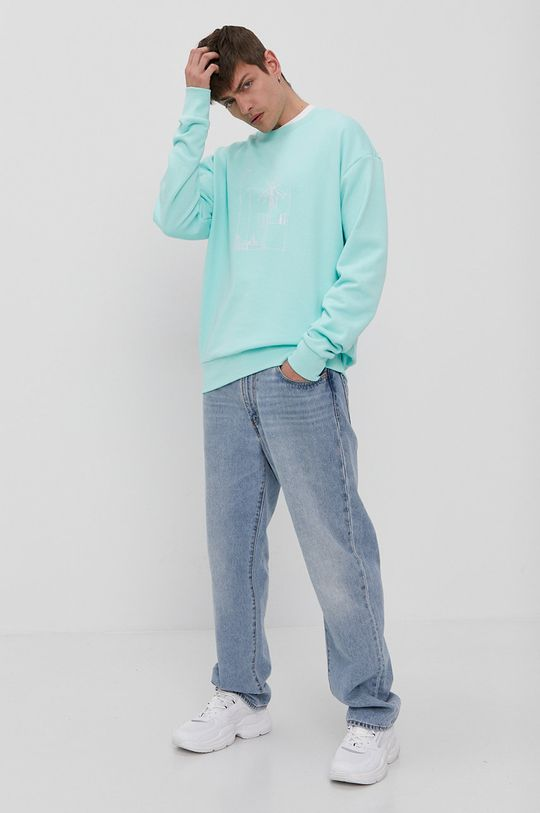 adidas Originals - Bluza bawełniana blady turkusowy